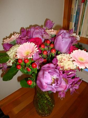 学生からもらったお花.JPG